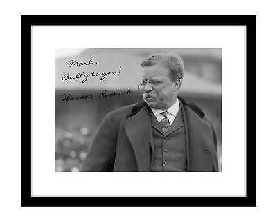 Personalized Theodore Roosevelt 8x10 Signed Photo Your Name Custom Autograph TR