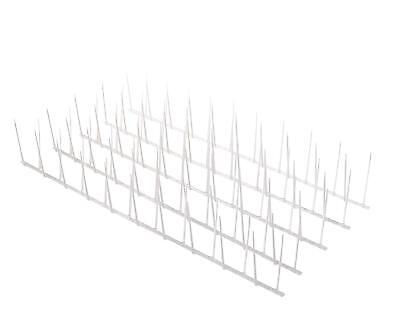 Polycarbonate Small Bird Spikes Pigeon PLASTIC Repellent 15 Strips 16ft Coverage