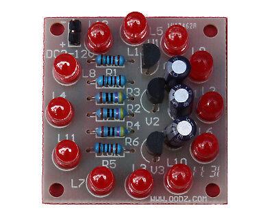 Circular Electronic Led Flash Circuit Light Diy Kit 12pcs Production Red Blue Bs