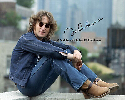 John Lennon Rock and Roll Hall of Fame Autographed Signed 8x10 Photo