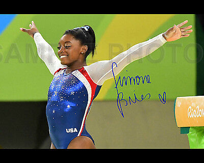 SIMONE BILES 2016 USA OLYMPIC GYMNAST SIGNED AUTOGRAPHED 8X10 PHOTO REPRINT #2