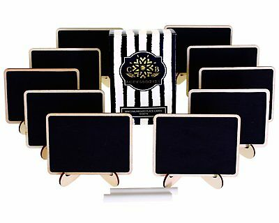Mini Chalkboards Place Cards Easel Stand Erasable Chalk Weddings Food Signs Tag
