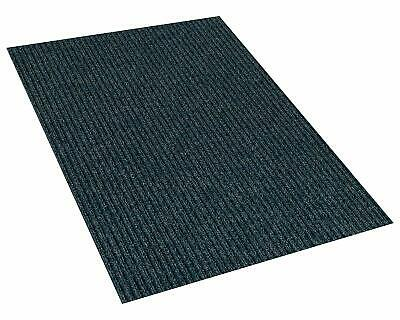 Blue Indoor/Outdoor Area Rug Carpet with a Rubber Backing 1/