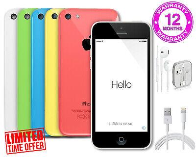 APPLE iPHONE 5C 8GB / 16GB / 32GB - Unlocked - Pink, Blue, White, Green, Yellow