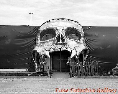 Doorway to Halloween Haunted House, Fort Worth, Texas - Vintage Photo Print](Haunting Halloween Photos)