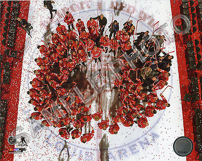 The Detroit Red Wings Salute The Crowd  Last Game At Joe Louis Arena 8X10 Photo