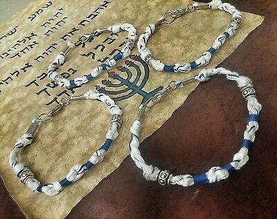 """4 Total! TZITZIT BRACELET SIZE 8 1/4"""" TZIT TZIT Torah Bible tassels DEUT 6:8"""