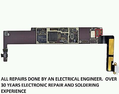 Apple iPad MINI 1,2, 3 digitizer FPC Connector Solder Repair Replacement Service