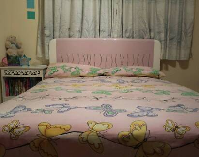 Sparkly Pink Diamonte Girls Double Bed head bedhead Yandina Maroochydore Area Preview