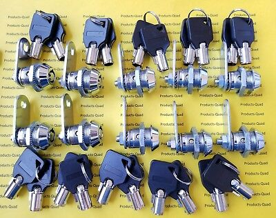 10 Keyed Alike Nonretaining 58 Tubular Cam Lock Rv Camper Cabinet Toolbox