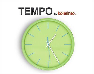 KONSIMO - TEMPO Wanduhr Uhr Wand modern rund Deko Design Kunststoff grün NEU TOP