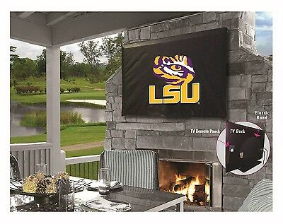 (Louisiana State University Outdoor TV Cover w/ Officially Licensed Logo)