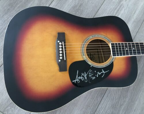 """ASHLEY MCBRYDE SIGNED AUTOGRAPH 41"""" FULL SIZE ACOUSTIC GUITAR w/EXACT PROOF"""