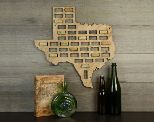 Wine Cork Traps State of Texas Wooden Wine Cork Organizer Wall Decoration