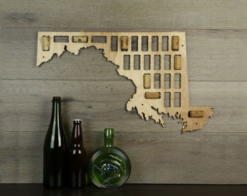 Wine Cork Traps State of Maryland Wood Wine Cork Organizer Wall Decoration