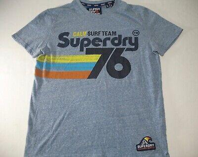 SUPERDRY Calif Surf Team 76 Vintage Style Adult Premium T-Shirt Size Large