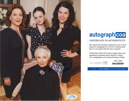 """MARION ROSS signed Autographed """"GILMORE GIRLS"""" 8X10 PHOTO - Marilyn ACOA COA"""