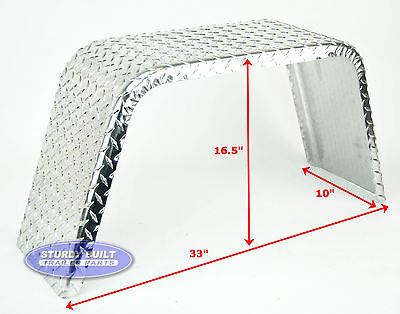 10 Aluminum Boat - (Qty 2)- Boat Trailer Fenders Aluminum Diamond Tread Plate 10