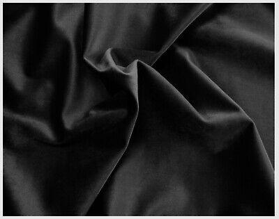 Tessuto Velluto Metraggio Tappezzeria Rivestimenti Nero Black 50x280cm