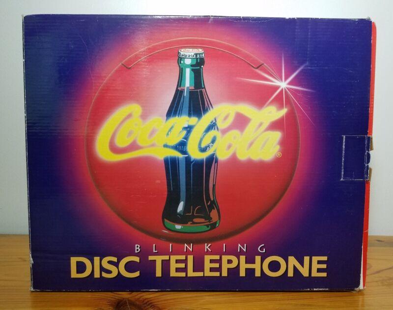 Coca Cola Coke Blinking Light Up Disc Telephone - New Old Stock (1995)