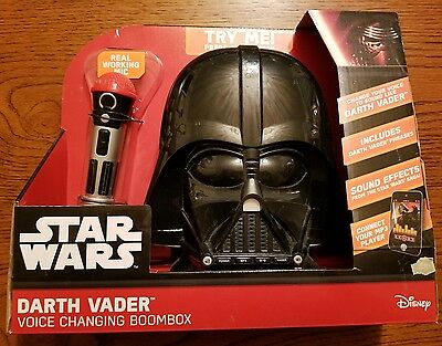 Star Wars Darth Vader Voice Changing Boombox - New In Box - Voice Changing