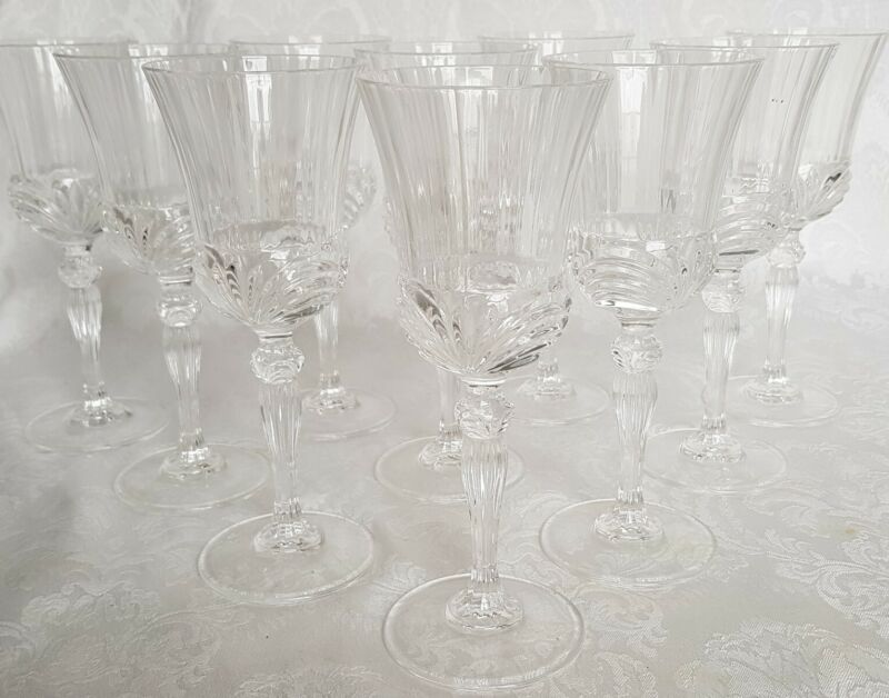 "Cambridge Glass CAPRICE Crystal Clear 7,5"" Wine/liquor  Goblets - Set of 10 5oz"