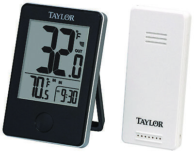 Taylor (1730) Wireless Indoor & Outdoor Thermometer With Humidity Indicator! NEW