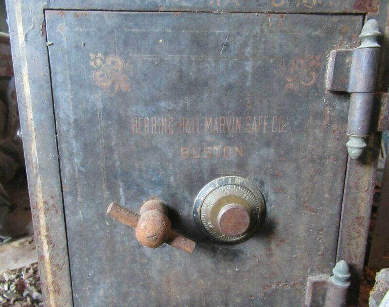 """Herring-Hall-Marvin Safe Co Floor Safe from Circa 1920 in Boston20"""" X 17"""" X 16"""""""