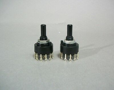 Electroswitch C5p0206n-a Lot Of 2 Rotary 2 Pole 6 Pos Switch Free Shipping - New
