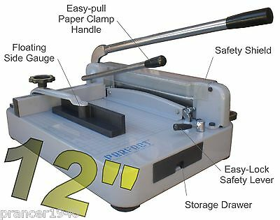 New Original Perfect G12 Pro Stack Paper Cutter - Heavy Duty Guillotine