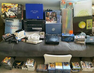PS1 PS2 PS3 PSP Nintendo Wii N64 Gameboy Sega Dreamcast Saturn Spectrum Bundle