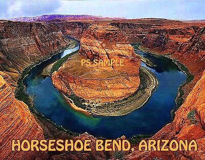 Arizona   Horseshoe Bend   Travel Souvenir Flexible Fridge Magnet