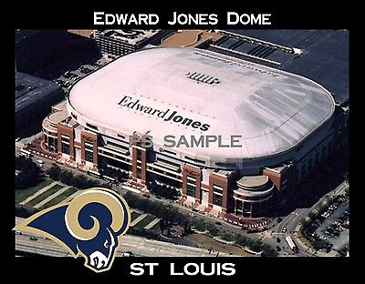 St Louis - EDWARD JONES DOME - Rams - Flexible Fridge Magnet ()