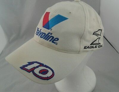 Valvoline Racing Eagle One Johnny Benson #10 Backstrap White Hat Baseball Cap for sale  Shipping to Canada