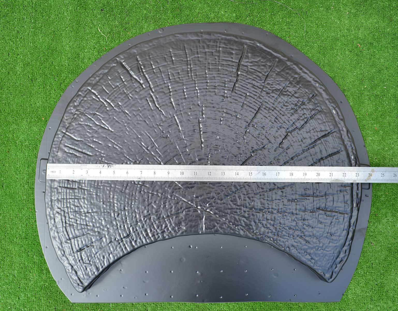 2 pieces mold log stepping stone abs plastic concrete for Concrete log forms