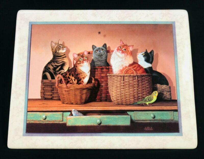 "BRALDT BRALDS - Cats ""Basket Cases"" Plate Limited Edition Bradford Exchange"