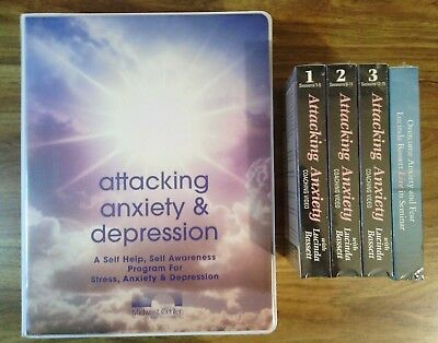 (ATTACKING ANXIETY & DEPRESSION Set: 16 Audio Cassettes w. Workbook + 4 New VHS)