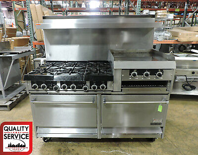 Garland H283rc Commercial 6 Burner Gas Range W 2 Ovens Griddle Broiler