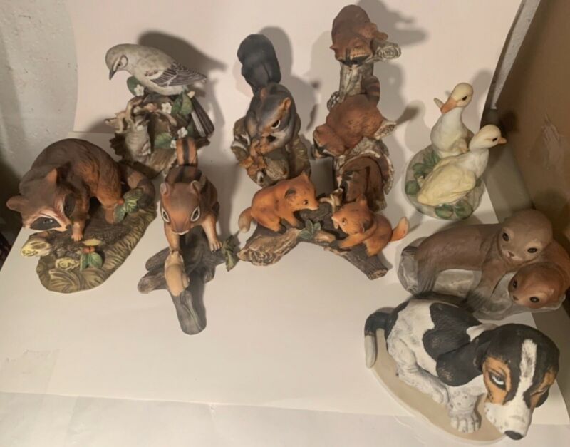 Vintage Homco Masterpiece Porceline Figurines, Lots of 9