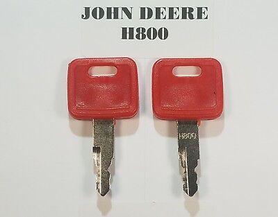 2 John Deere Keys Jd Key Heavy Equipment Starter Ignition Excavator Hitachi