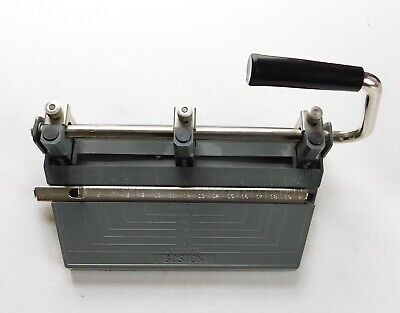 Vintage Heavy Duty Boston 3 Hole Punch Adjustable Hunt Mfg.