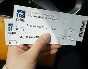 Two front row tickets to The Stanfields