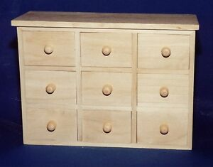 mini chest of 9 drawers spice jewellery collection box