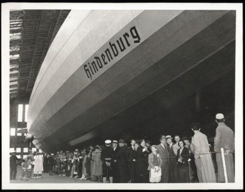 1936 Zeppelin LZ 129 Hindenburg Airship Hangar Lakehurst Type 1 Original Photo