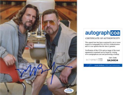 "JEFF BRIDGES signed Autographed ""THE BIG LEBOWSKI"" 8X10 PHOTO - PROOF - ACOA COA"