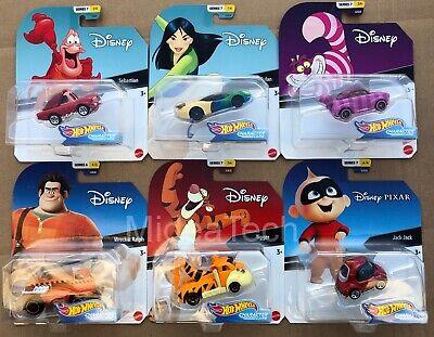 Hot Wheels 202 Disney Pixar Character Cars Series 7, Set of 6 1/64 Diecast Cars
