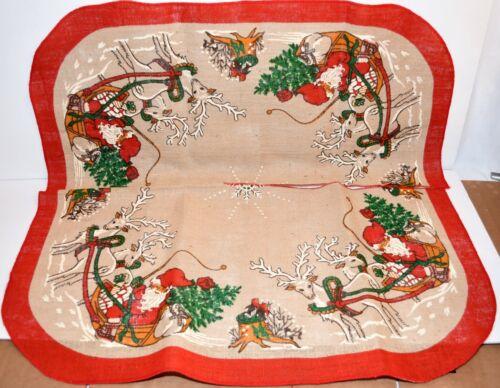 Needlepoint On Jute Christmas Tree Skirt Embroidery by Stildukar Sweden 39 x 39