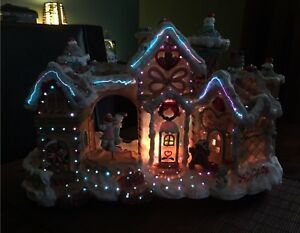 Beautiful condition fiber optic animated candy house