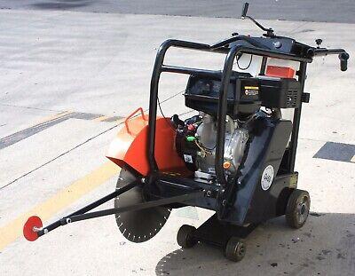 420cc Gas Engine Walk Behind 18 Concrete Cut Off Floor Saw W Diamond Blade