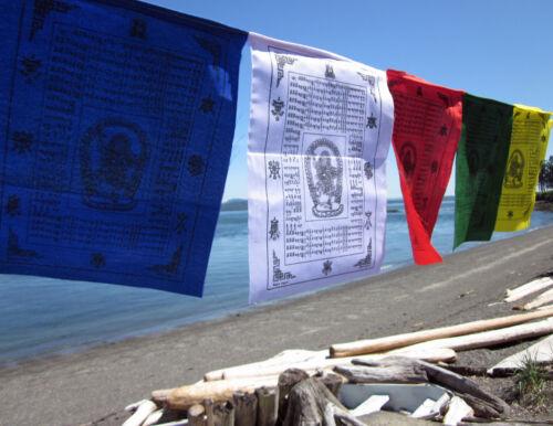 "VERY RARE 10 X 12"" VAJRAYOGINI BAJRA YOGINI TIBETAN BUDDHIST PRAYER FLAGS NEPAL"
